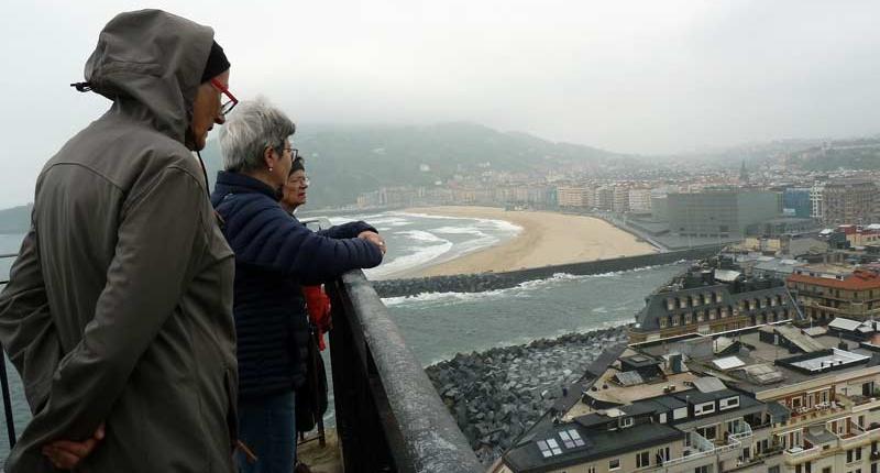 Aussicht auf San Sebastian